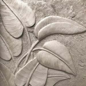 Feuilles Pothos sculptées