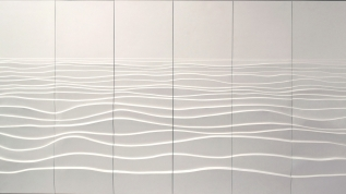 Sculpture murale : Panneau mural bas relief Les vagues