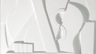 Sculpture murale : panneau mural bas relief Musique cubiste