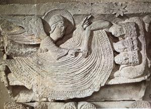 bas-relief art roman le sommeil des mages à Autun