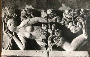 bas-relief art roman,Ève au jardin d'Eden