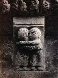 bas-relief art roman le baiser