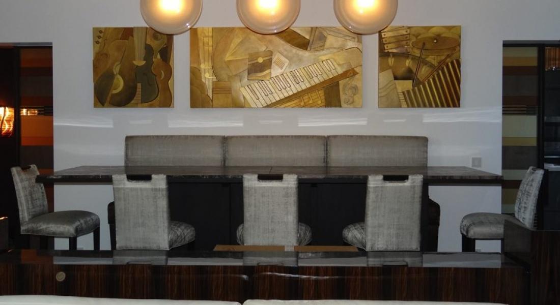 Sculpture murale : panneau mural bas relief appartement